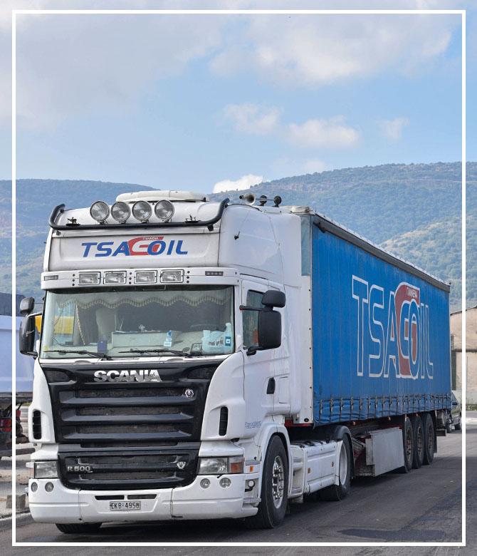 Όμιλος επιχειρήσεων TSAGOIL - Μεταφορική - Μεταφορά Αδρανών υλικών - Τροφίμων - Ειδών συσκευασίας